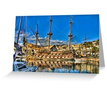 Old Port Galeone Greeting Card
