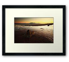 Seamill Sunset Framed Print