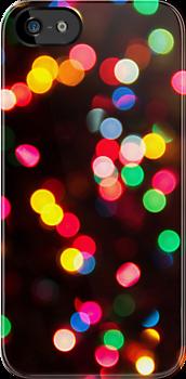 Bokeh - Christmas Light iPhone case by Tamara  Kaylor