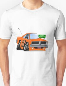 "Dodge Charger ""General Lee"" Cartoon T-Shirt"