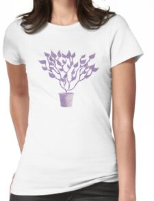 Tree Of Life - Purple Womens Fitted T-Shirt