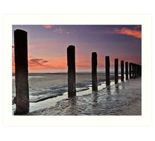 Stevenston Beach Dawn Art Print