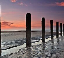 Stevenston Beach Dawn by Fe Messenger