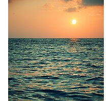 Beautiful Sun and Sea Photographic Print