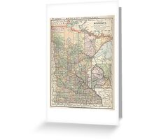 Vintage Map of Minnesota (1891) Greeting Card
