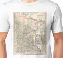 Vintage Map of Minnesota (1891) Unisex T-Shirt