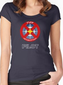 Red Squadron - Star Wars Veteran Series Women's Fitted Scoop T-Shirt