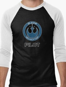 Star Wars Episode VII - Blue Squadron (Resistance) - Star Wars Veteran Series Men's Baseball ¾ T-Shirt