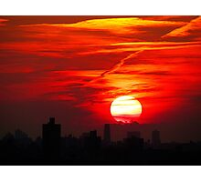 Winter sunset, New York City Photographic Print