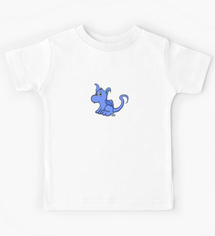Cute Blue Dragon Kids Tee