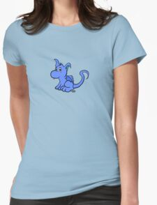Cute Blue Dragon Womens Fitted T-Shirt
