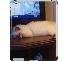 Molly, ragdoll kitten, bored with TV. iPad Case/Skin