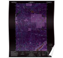USGS Topo Map Washington State WA Aladdin Mtn 239769 1992 24000 Inverted Poster