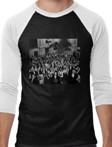 The Shining Overlook Hotel July 4th Ball Black and white Men's Baseball ¾ T-Shirt