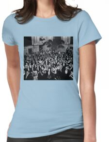 The Shining Overlook Hotel July 4th Ball Black and white Womens Fitted T-Shirt