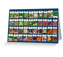 Vegetable seeds pattern Greeting Card