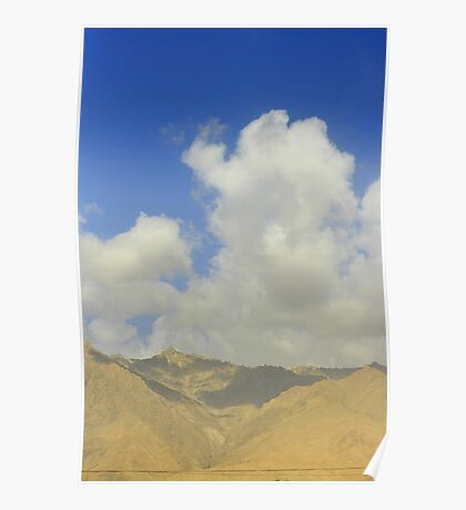 xinjing, china, sky and landscape Poster