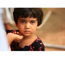 Indian little girl Photographic Print