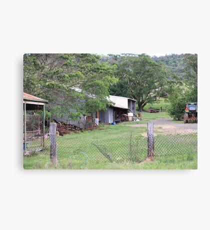 Farm Yard Near Laidley Canvas Print