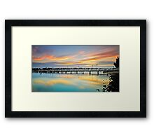 Reflections of a Jetty Framed Print