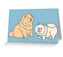 Chow Chow Dog Couple Greeting Card