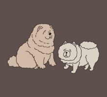 Chow Chow Dog Couple One Piece - Short Sleeve