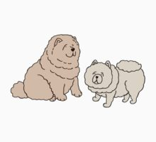 Chow Chow Dog Couple Kids Tee