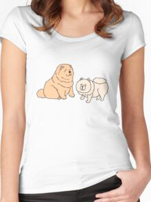 Chow Chow Dog Couple Women's Fitted Scoop T-Shirt