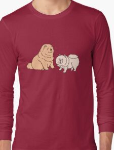 Chow Chow Dog Couple Long Sleeve T-Shirt