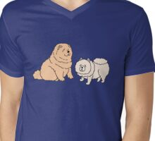 Chow Chow Dog Couple Mens V-Neck T-Shirt