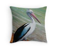 Pelican (oil) Throw Pillow