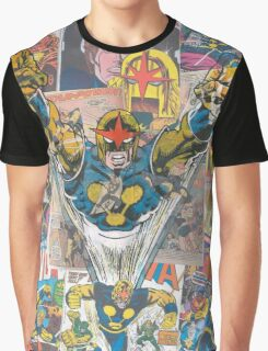 Vintage Comic Nova Graphic T-Shirt