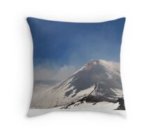 On A Calm Day - Mt. Etna Throw Pillow