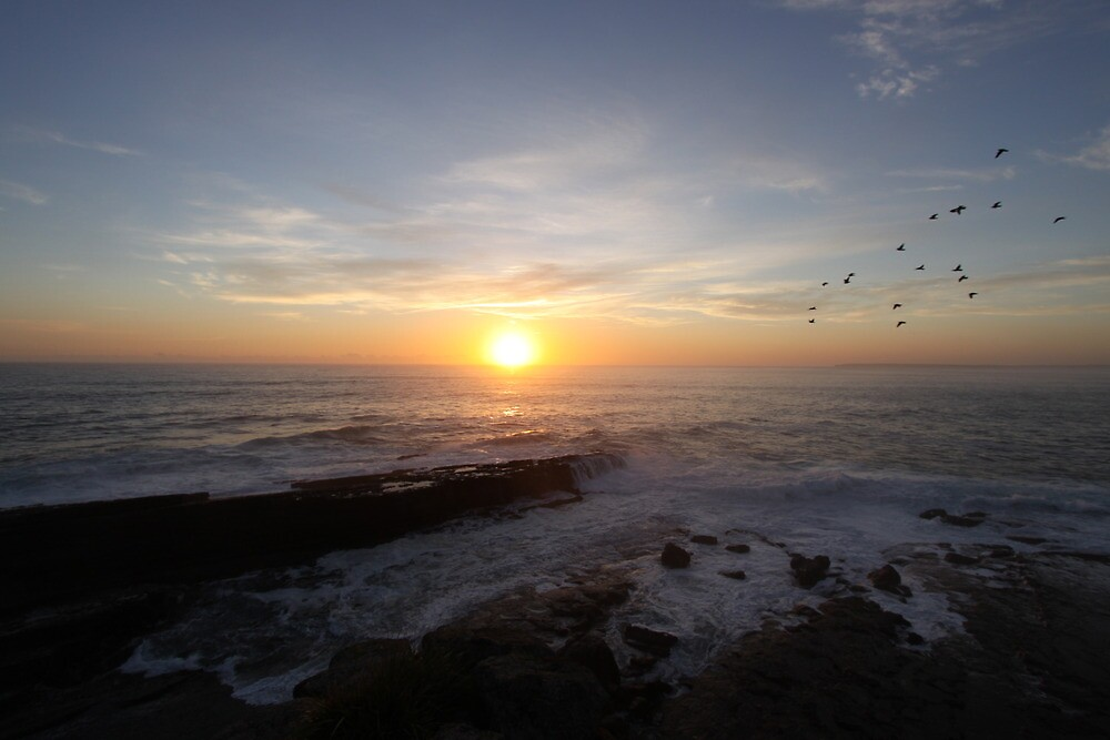 """Penguin Head Sunset"" | Culburra Beach, Australia by Chris Luget"