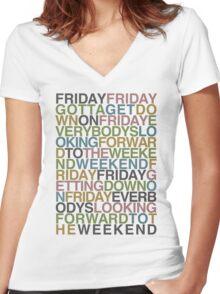 Friday - Rebecca Black Women's Fitted V-Neck T-Shirt