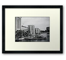 Boat Stop Framed Print
