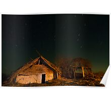 Mud hut by night Poster