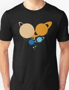Solar System Heart (to scale) T-Shirt