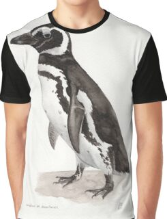 Penguin Watercolor Painting Graphic T-Shirt