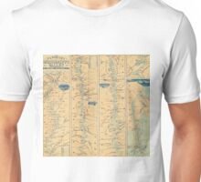 Vintage Map of The Mississippi River (1863) Unisex T-Shirt