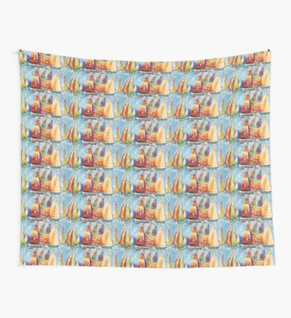 RACE AWAY Wall Tapestry