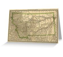 Vintage Map of Montana (1881) Greeting Card