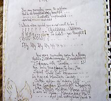 leter to oma/ode to carol by MardiGCalero