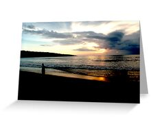 Balinese Sunset Greeting Card