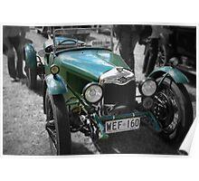 Riley 9 Brooklands 1929 Poster