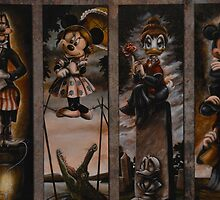 Haunted Mansion Ghosts Doom Buggy Stretching Portraits by notheothereye