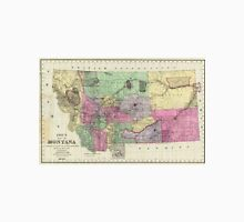 Vintage Map of Montana (1890) Unisex T-Shirt