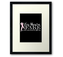 Yes, they're FAKE  My real ones tried to kill me Framed Print
