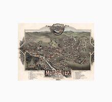 Vintage Pictorial Map of Montpelier Vermont (1884) Unisex T-Shirt