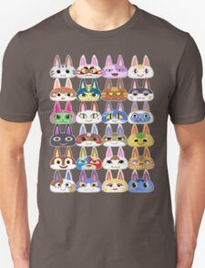 Animal Crossing Cat Villager Heads T-Shirt